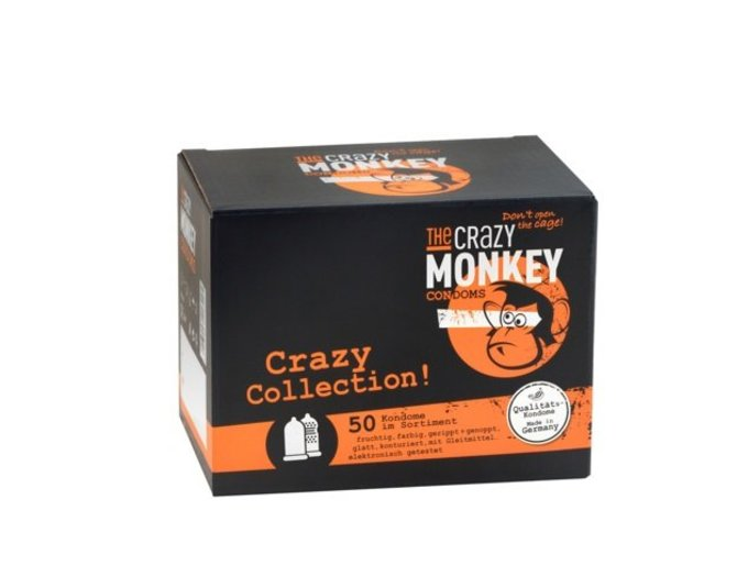 The Crazy Monkey Condoms Crazy Collection 50er Box