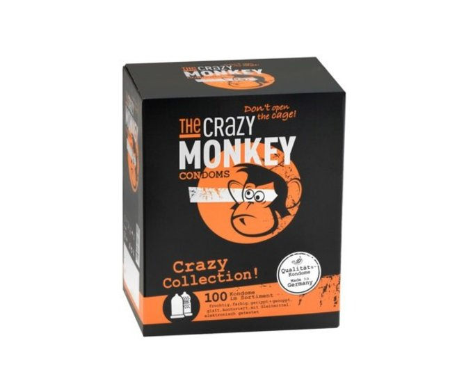 The Crazy Monkey Condoms Crazy Collection 100er Box
