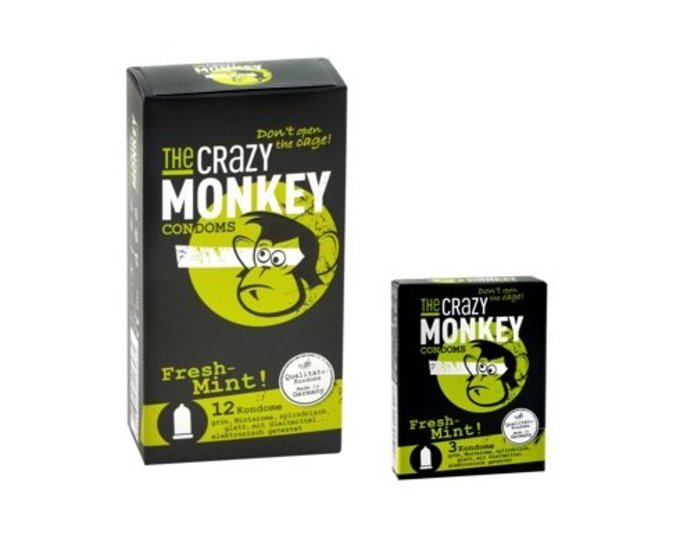 The Crazy Monkey Condoms Fresh Mint