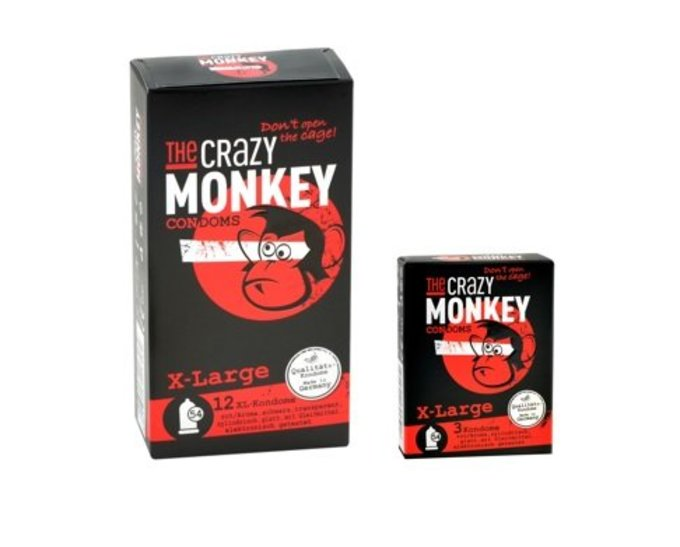 The Crazy Monkey Condoms X-Large